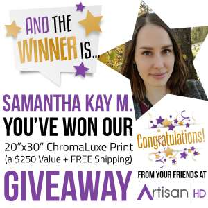 Samantha Kay M ChromaLuxe Giveaway Winner Announcement