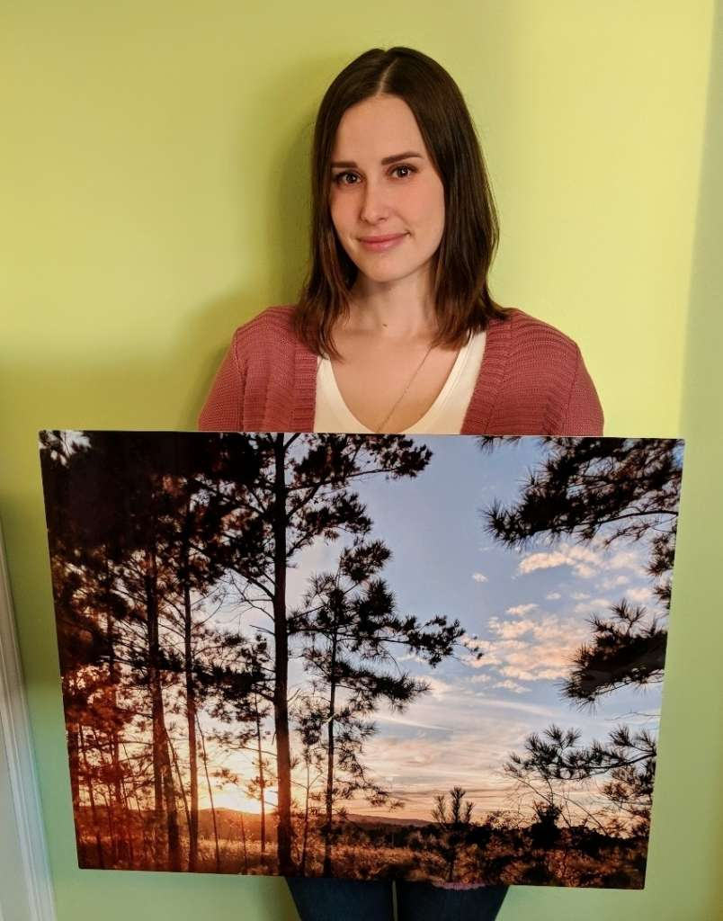 Samantha winner of ChromaLuxe Metal Print Rafflecopter giveaway