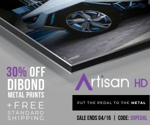 ArtisanHD 's Professional Photo Printing Spring Sale - Use Coupon Code 30PEDAL to Save 30% When You Print Directly to Metal Dibond